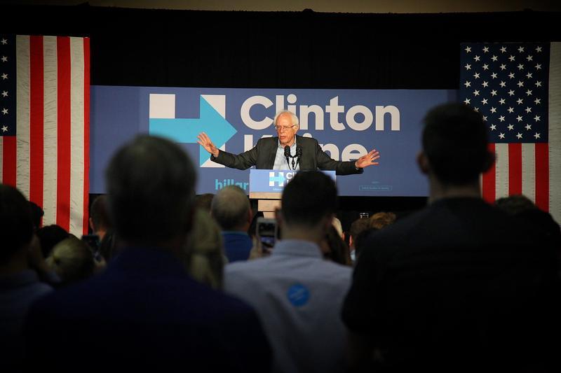 Vermont Sen. Bernie Sanders at Drake University