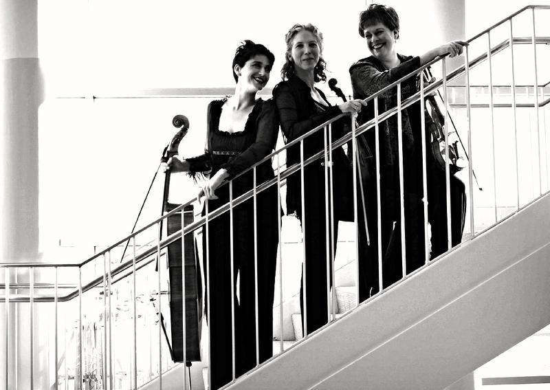 Julia Bullard,Susannah Klein, and Hannah Holman comprise Trio 826