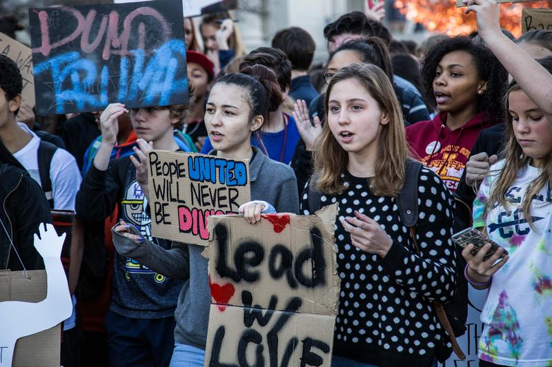 Hundreds of students at high schools in Des Moines staged a walk out the morning after Election Day to voice their concerns about the election outcome and express their support for each other.