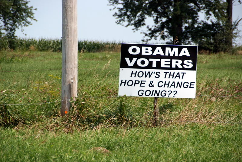 Sign on the side of County Road E41 in Story County, Iowa.