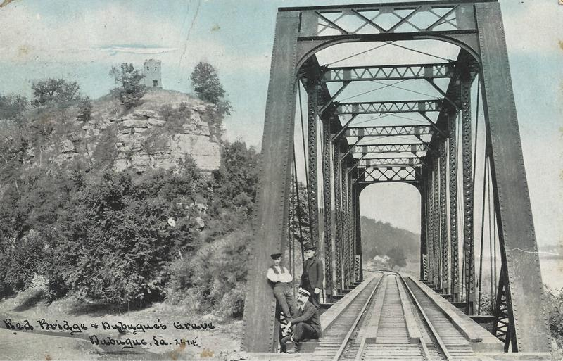 Dubuque, Iowa, Catfish Creek, Bridge, Milwaukee Road, September 23, 1909
