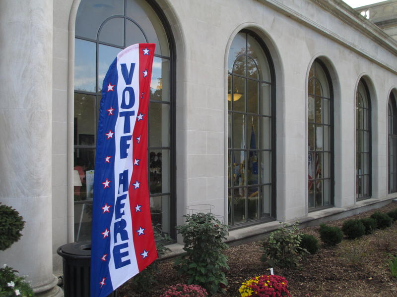 Early voting last month at the ISU Memorial Union