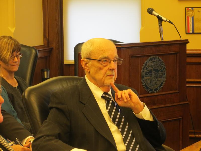 Iowa Dept. of Human Services Director Charles Palmer at a Branstad administration budget hearing