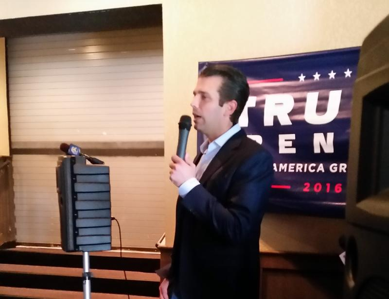 Donald Trump Jr. today in Cedar Falls