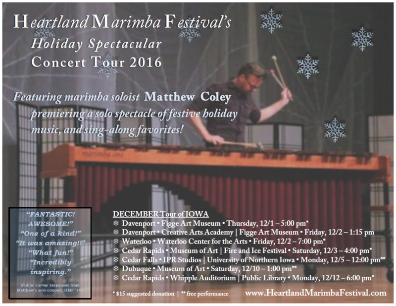 Matthew Coley's Heartland Marimba Festival holiday tour