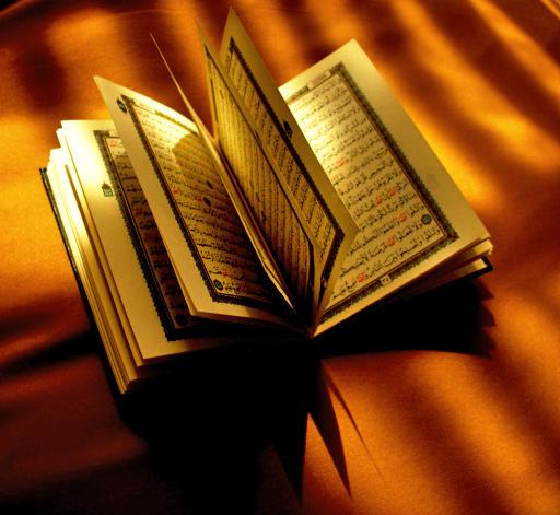 An opened qur'an