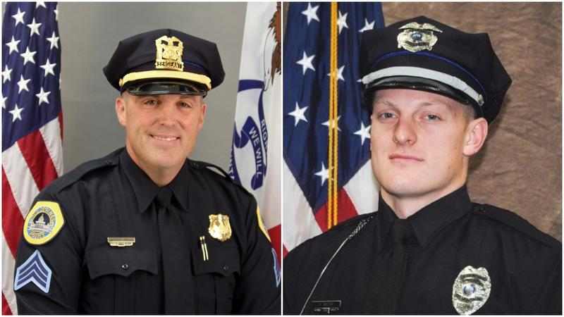 Des Moines Police Sgt. Anthony Beminio and Urbandale Officer Justin Martin