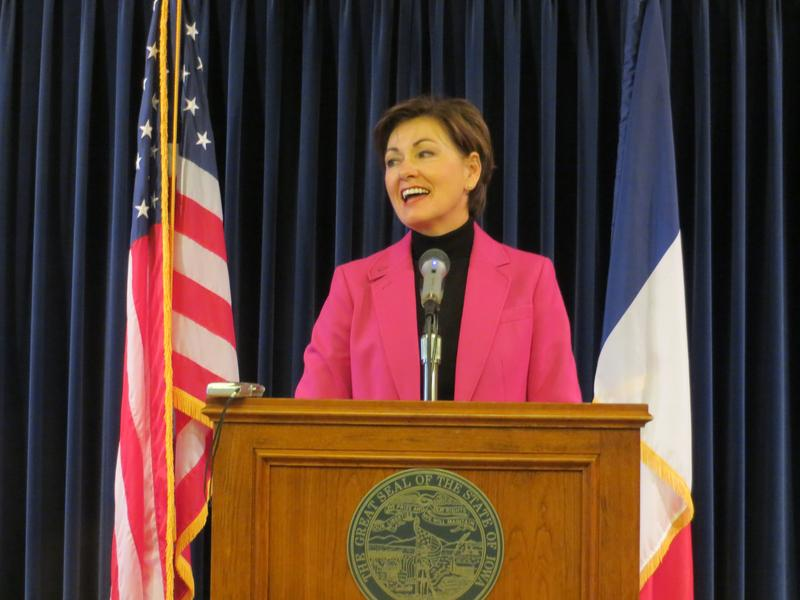 Lt. Gov. Kim Reynolds at administration's weekly news conference