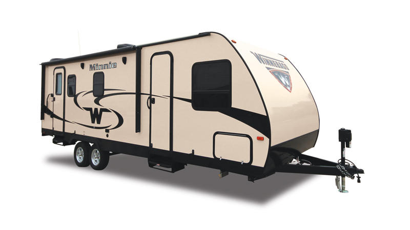 "Winnebago credits its expansion into the ""tow-along"" RV sement for its latest renevue jump."