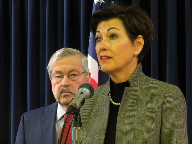 Lt. Gov. Kim Reynolds and Gov. Terry Branstad
