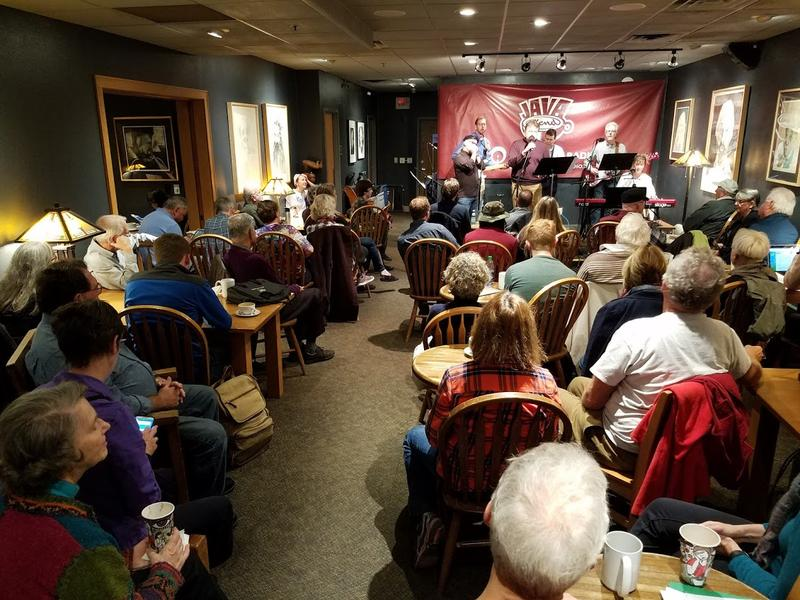 A packed crowd for The Recliners' Java Blend performance