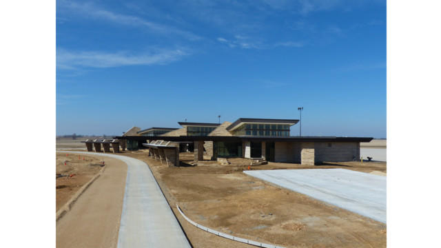 Dubuque Regional Airport's terminal building opened this past summer.
