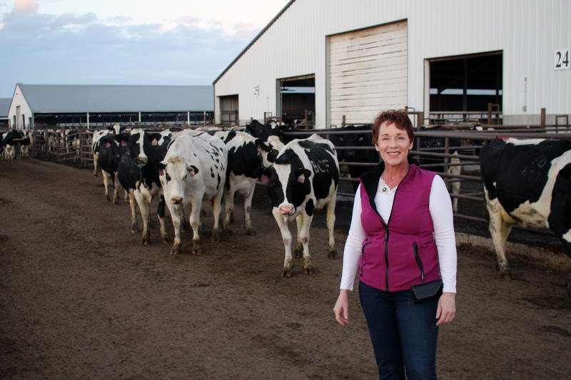 Mary Kraft runs two dairy operations in rural Morgan County, Colorado.