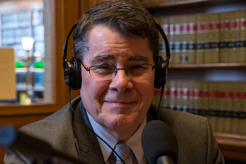 Outgoing Senate Majority Leader Mike Gronstal in 2015 appearing on IPR's River to River.