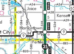 The diesel pipe rupture occurred near Hanlontown in far north-central Iowa.
