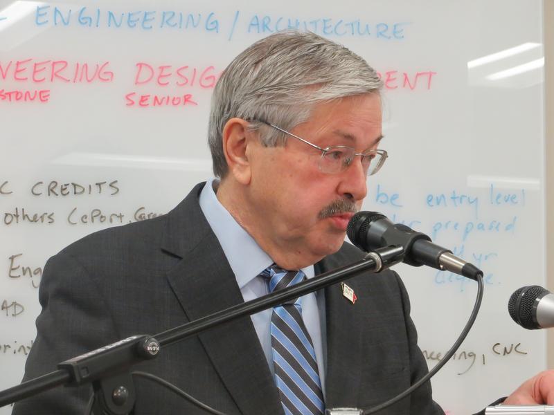 Gov. Terry Branstad.   Branstad held his weekly news conference at Central Campus of Des Moines Public Schools
