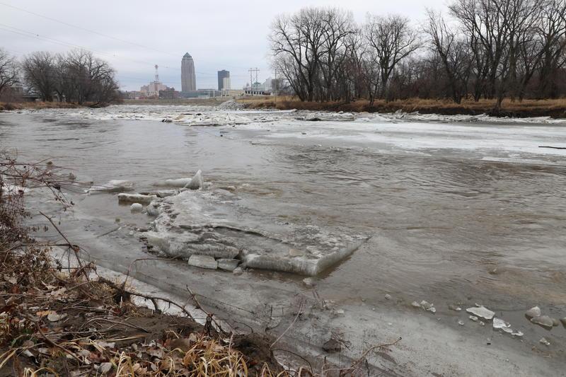 Raccoon River near downtown Des Moines