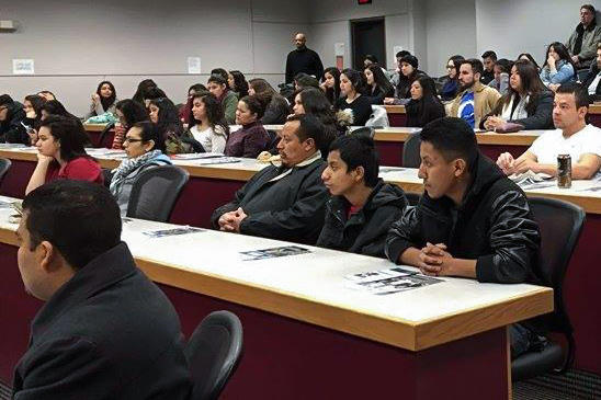 "Latinos at a ""Dream Iowa"" meeting in Des Moines"