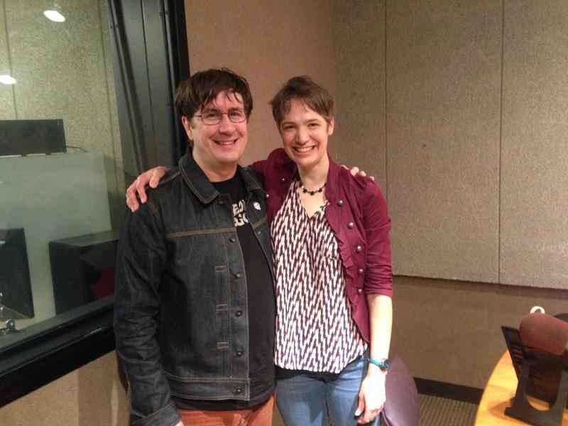 John Darnielle and Charity Nebbe in Iowa Public Radio's Iowa City studio.
