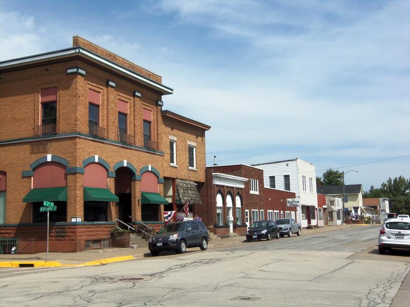 Downtown Eldridge, Iowa.