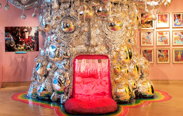 "Wayne Coyne's ""King's Mouth,"" on display now at the Waterloo Center for the Arts"