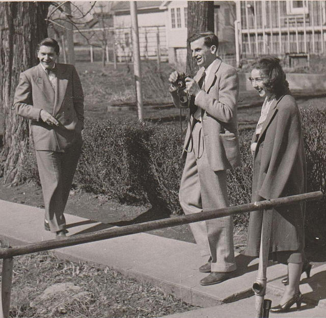 Flannery O'Connor visiting the Amana Colonies, 1947