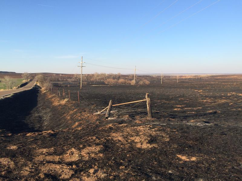 Fire damage near Ashland in Clark County, Kansas