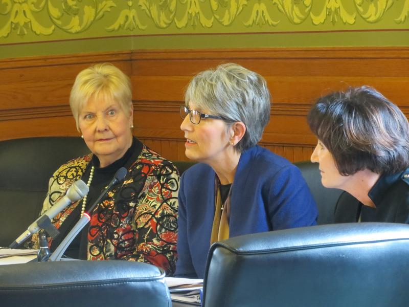 Board of Regents nominees Nancy Boettger, Sherry Bates, and Nancy Dunkel