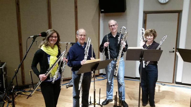 The IWO Flute Quartet in IPR's Studio One