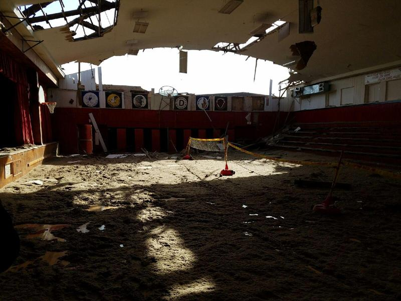 A tornado in Seymour, Iowa took the roof off a gymnasium earlier this week