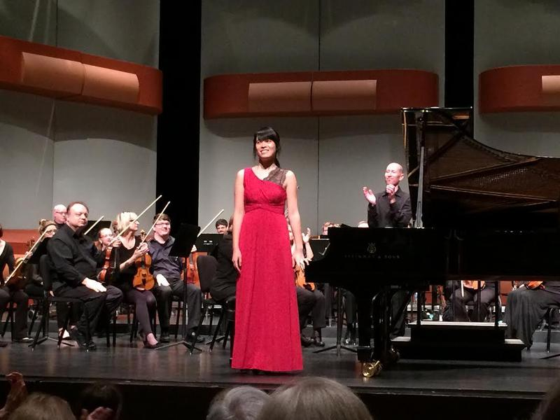 2nd Prize Winner Alison Lee of the U.S. following her concerto performance
