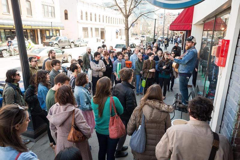 A sidewalk performance from Mission Creek Festival 2016