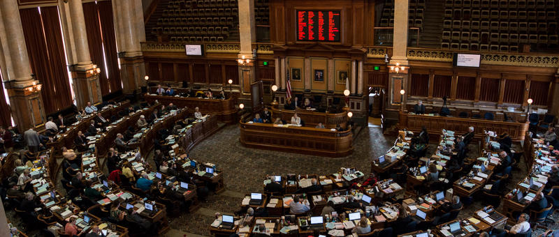The Iowa House of Representatives in the final week of the 2017 legislative session.