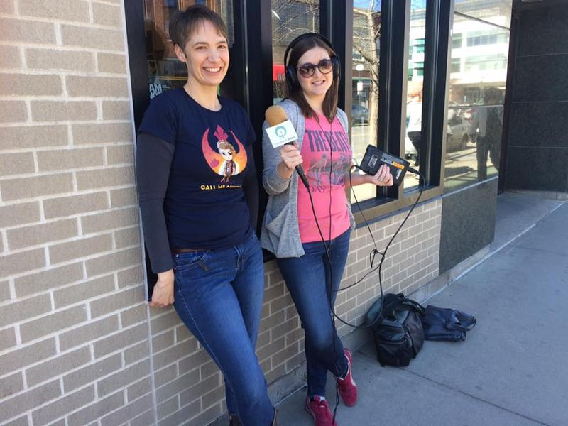 Lit City co-hosts Charity Nebbe and Anna Williams