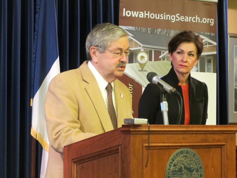 Gov. Terry Branstad and Lt. Gov. Kim Reynolds