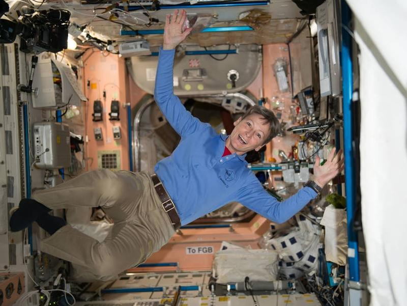 Peggy Whitson aboard the International Space Station