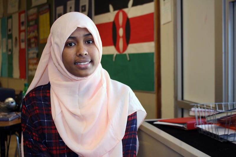 Isra Mohamud, 18, is a member of Fort Morgan Colorado's small East African community.