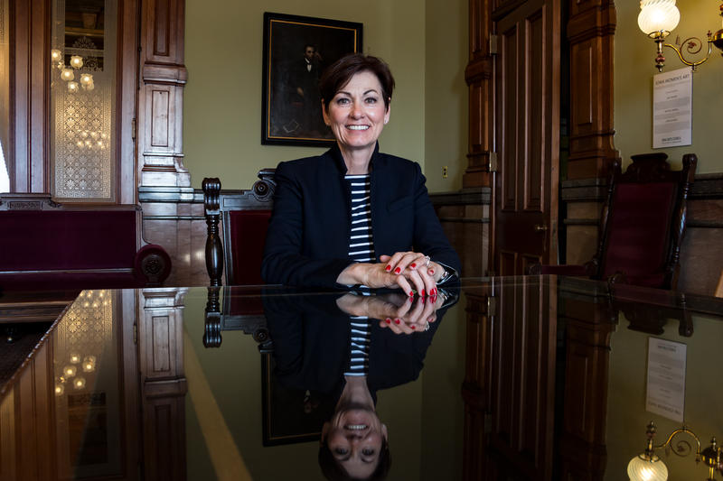 Lt. Governor Kim Reynolds in her formal capitol office 5/2/2017.