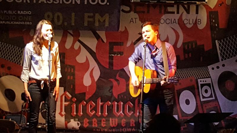 Adam Bruce and April Lynn perform live on IPR's Studio One Underground at the Des Moines Social Club.