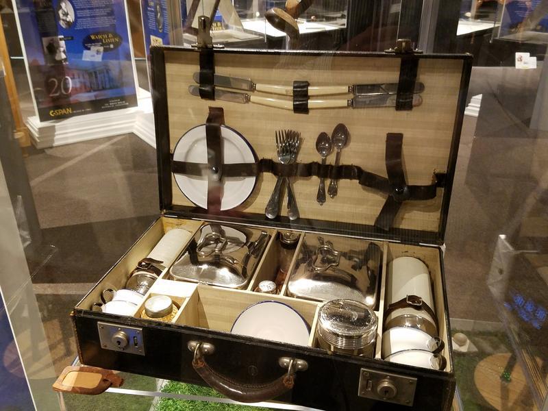 Woodrow Wilson's picnic suitcase
