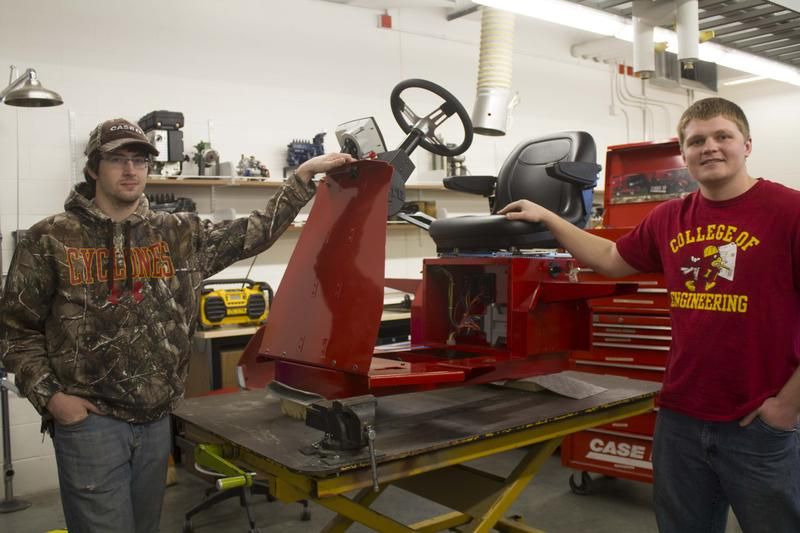 ISU Tractor Pull Club members Patrick Haight (left) and Matthew Streit are among 16 Cyclones who will test their design at an international competition this week in Illionois.