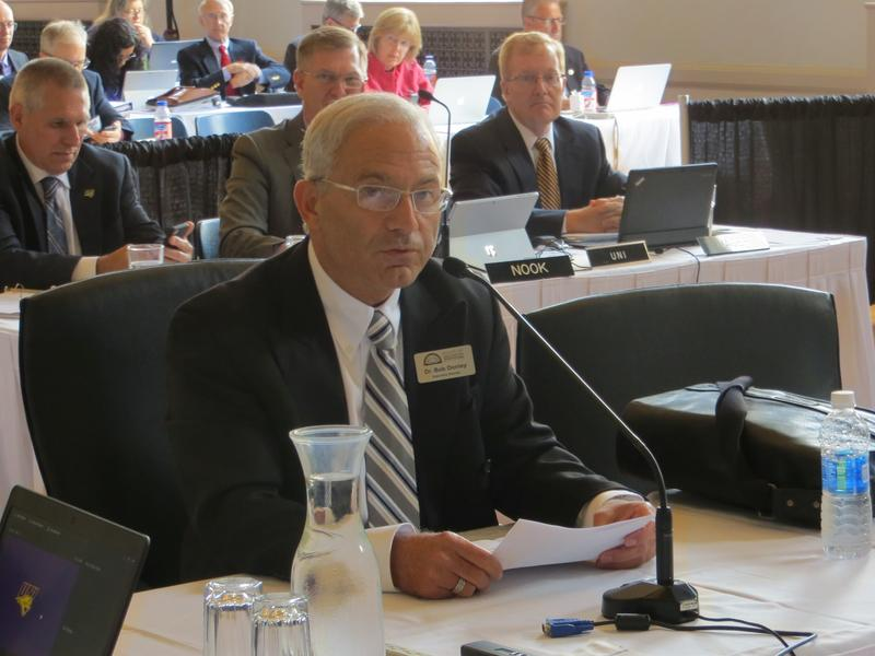 Robert Donley speaks to the Board of Regents Thursdsay morning