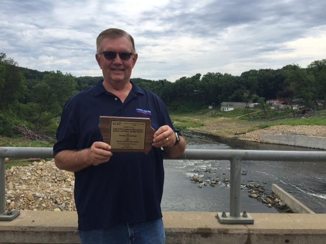 Pat Colgan, who engineered the new dam at the lake. The dam won an award for innovation in engineering.