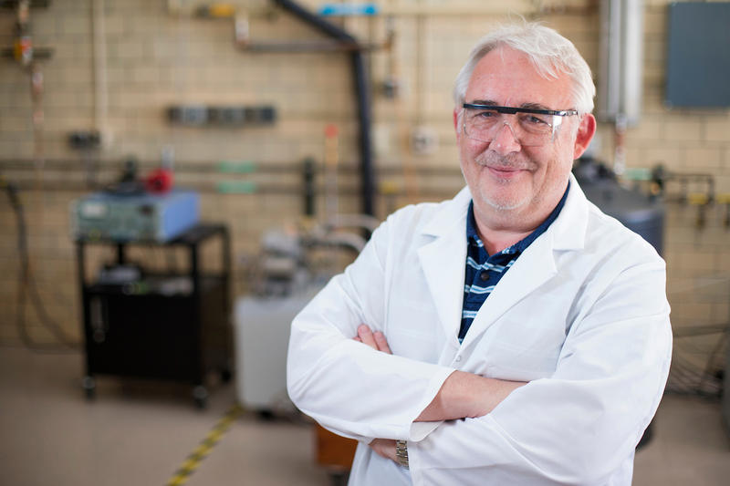 Vitalij Pecharsky is working to develop new refrigeration materials and technologies. He says there are many scientific benefits to the Ames Laboratory's 70 years on the Iowa State University campus.