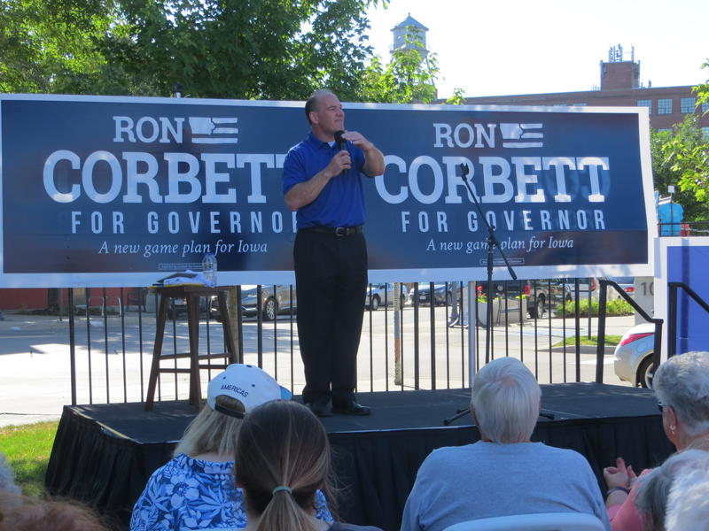Cedar Rapids Mayor Ron Corbett announces his intention to seek the Republican nomination for governor at New Bo City Market June 20th