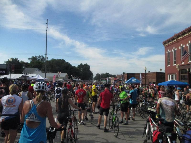 Malvern, Iowa during 2016's RAGBRAI XLIV.