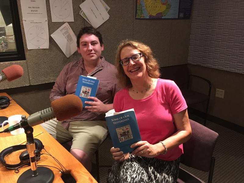 Cormac Broeg and Sally J. Scott pose with the memoir