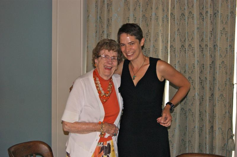 Evelyn Birkby with host Charity Nebbe
