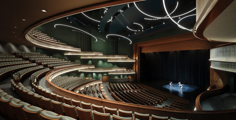 Inside Hancher Auditorium in Iowa City