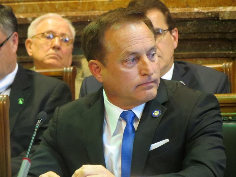 Iowa Secretary of State Paul Pate at a meeting of the House State Government Committee
